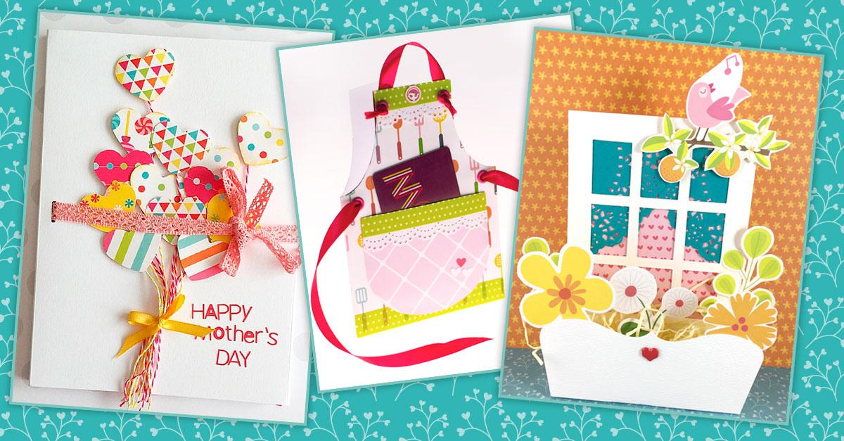 tarjetas para el día de la madre hechas a mano