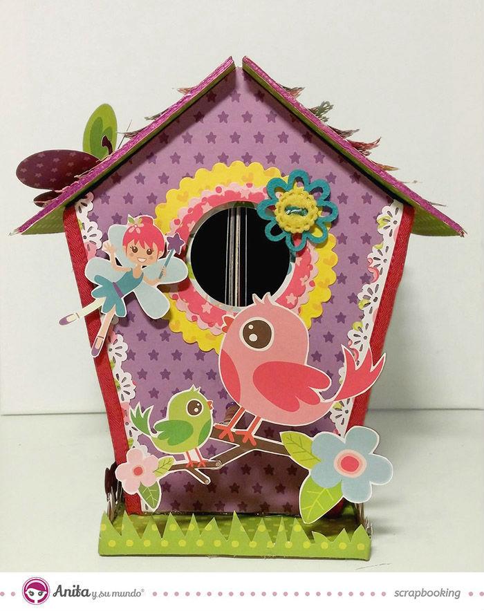 C mo hacer una casita de p jaros de papel anita y su mundo - Casita para pajaros ...