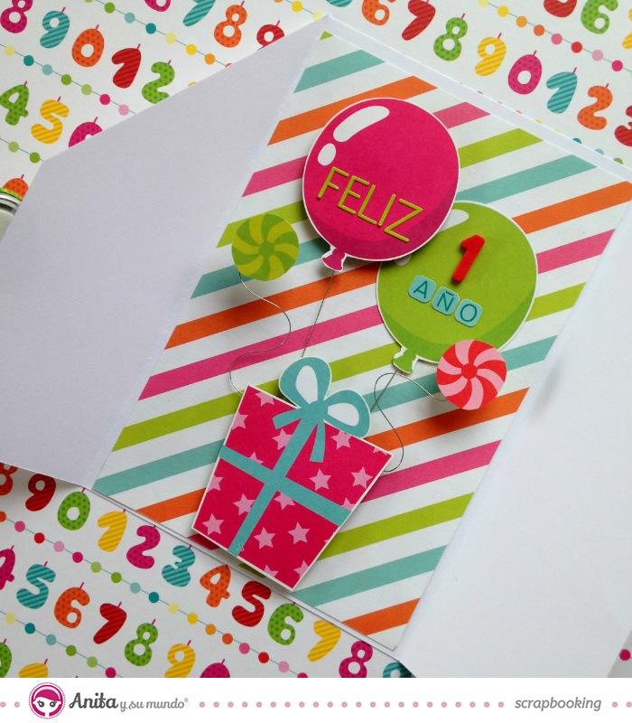 Manualidades con papel: Tarjeta de cumpleaños paso a paso