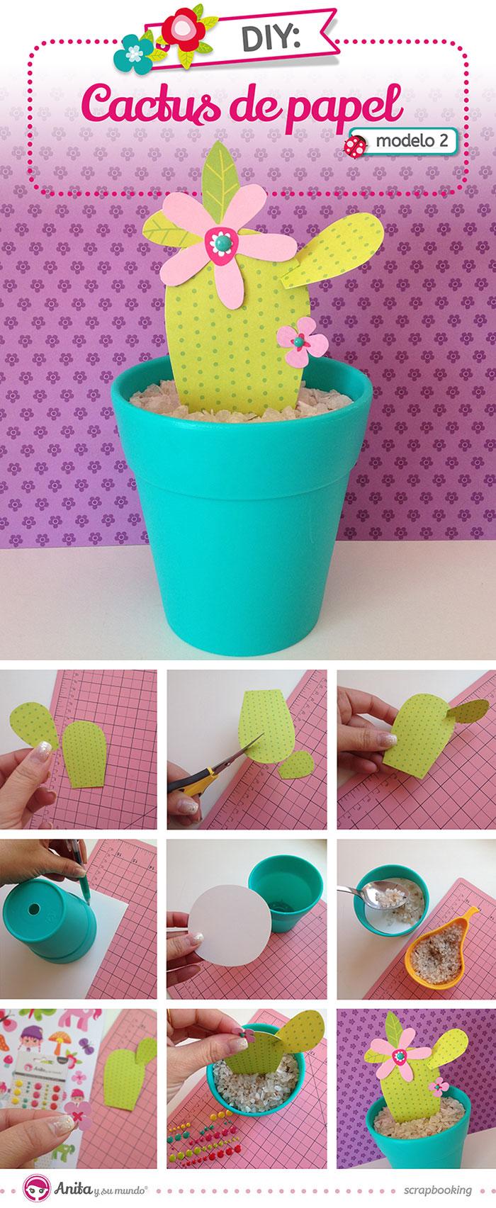 C mo hacer cactus de papel scrap anita y su mundo scrap - Ver como hacer manualidades ...
