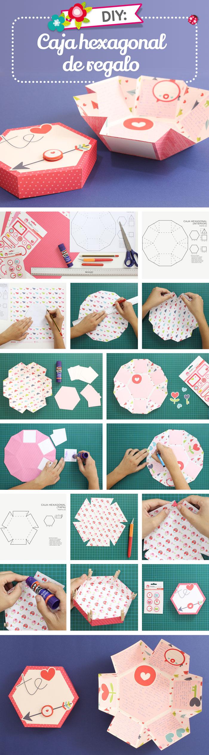 caja-papel-hexagonal-regalo