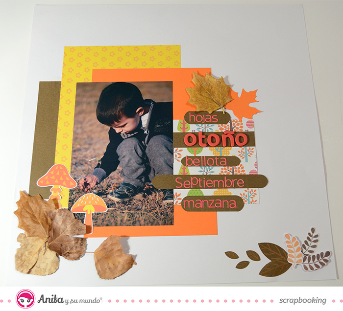 layout otoño con sketch