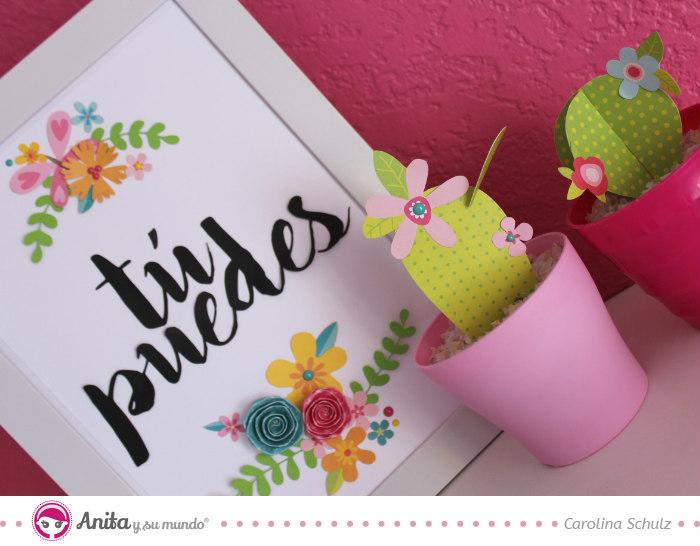 Manualidades con papel cuadro decorativo anita y su mundo - Marcos de papel para fotos ...