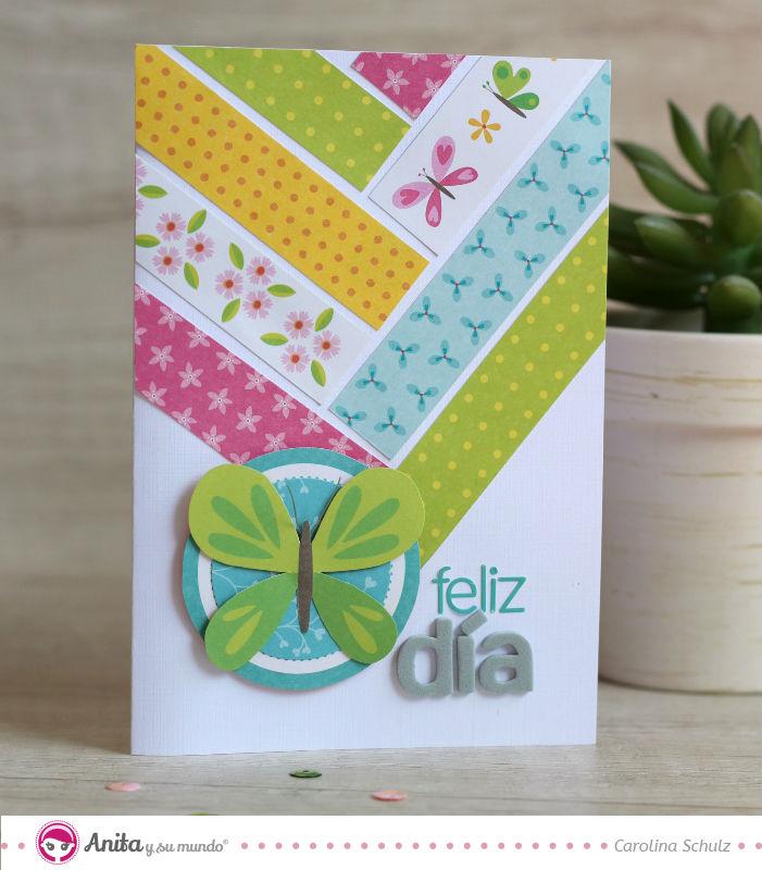 C mo hacer tarjetas con tiras de papel en 3 pasos anita - Como realizar tarjetas navidenas ...