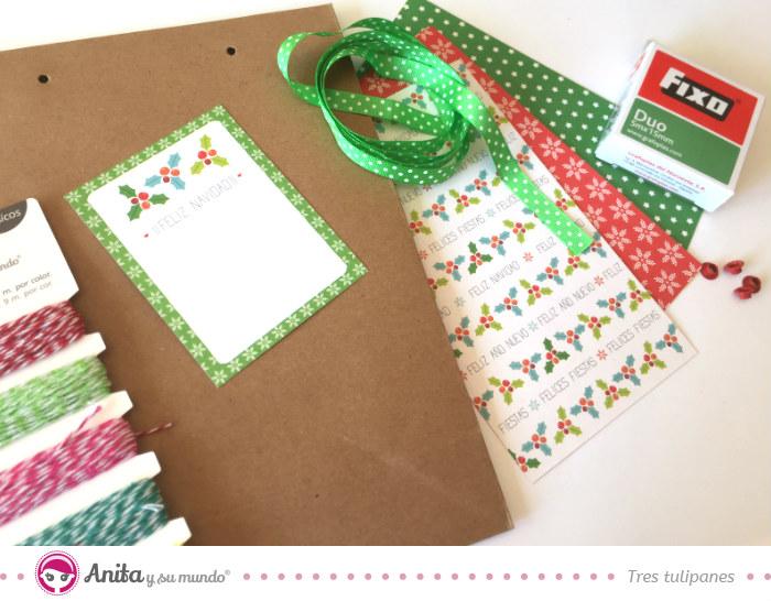 2076b272c ✂ 5 ideas para hacer bolsas de papel para regalos navideñas