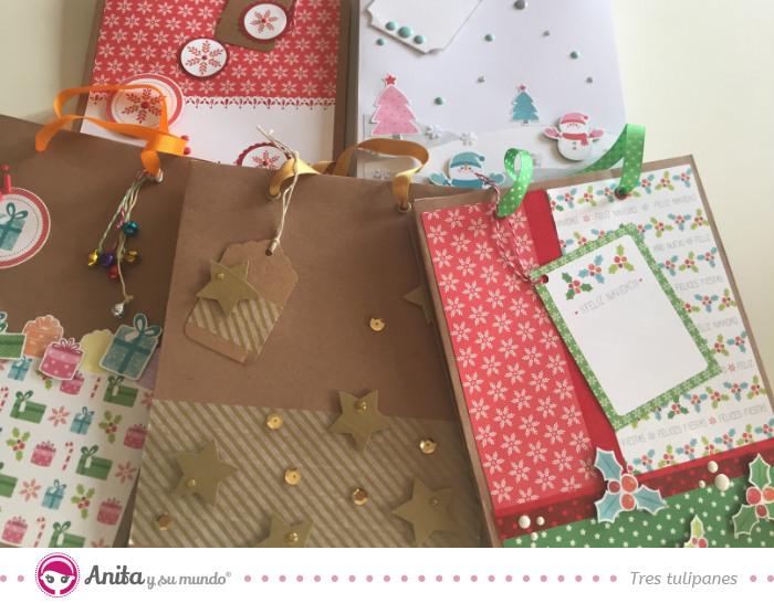 5 ideas para hacer bolsas de papel para regalos navide as - Como hacer bolsas de regalo ...