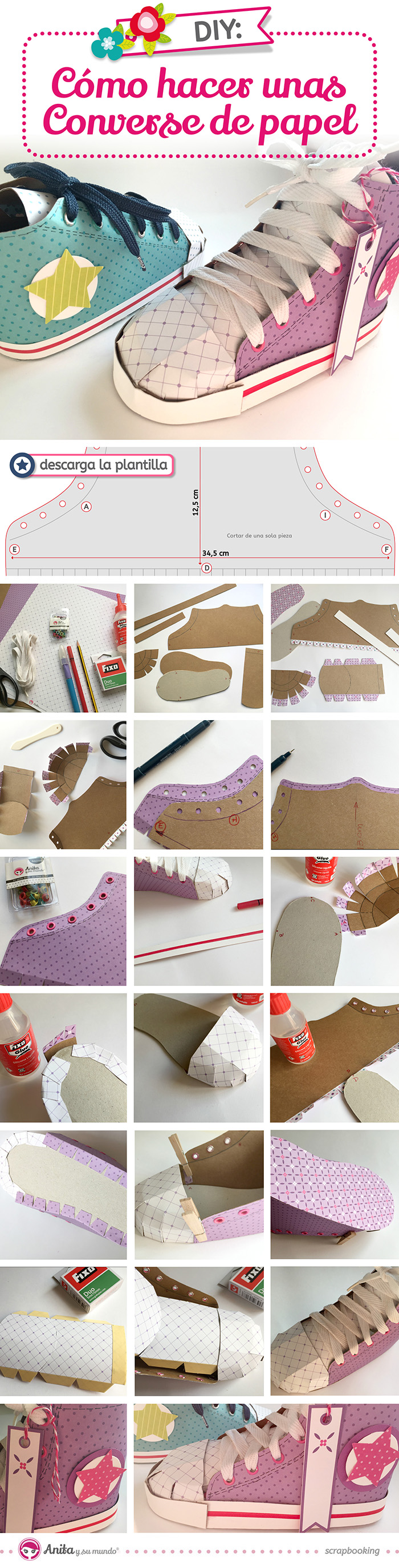 Como-hacer-zapatillas-converse-de-papel