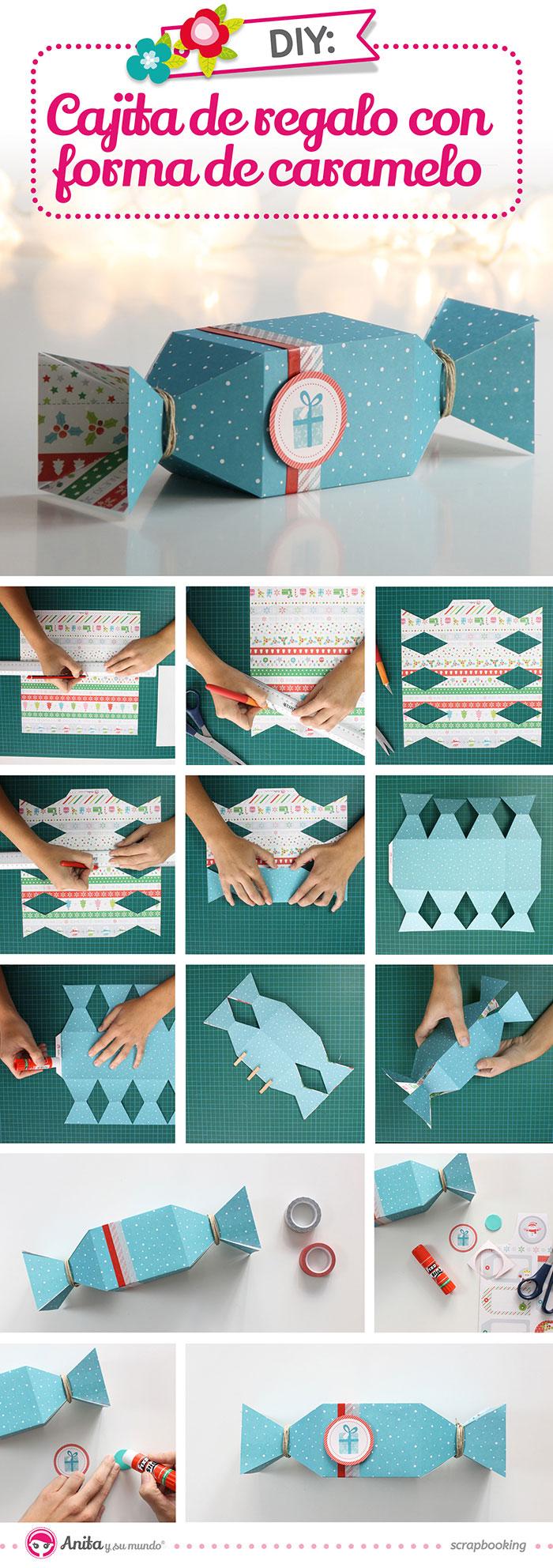 Cajitas para envolver regalos originales paso a paso for Como hacer cajas de carton para regalo