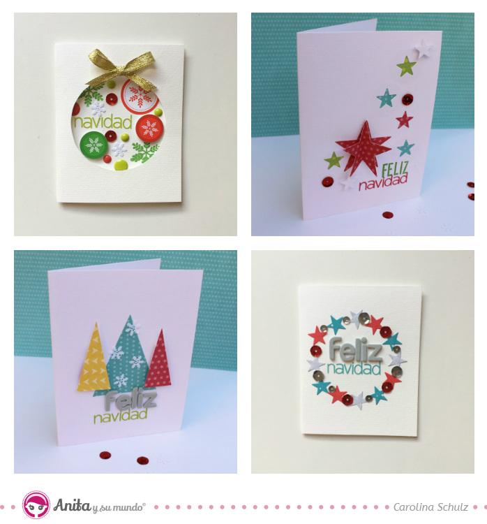 4 ideas de tarjetas de navidad originales anita y su - Tarjetas de navidad faciles ...