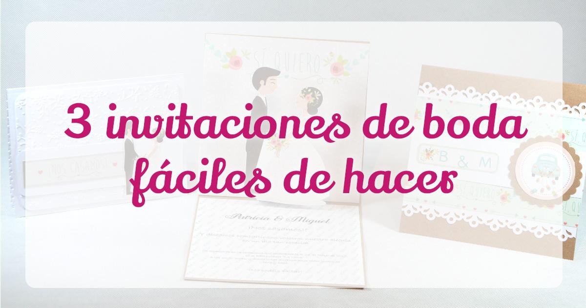 ✂ Invitaciones de Boda Caseras Fáciles y paso a paso | Anita y su ...