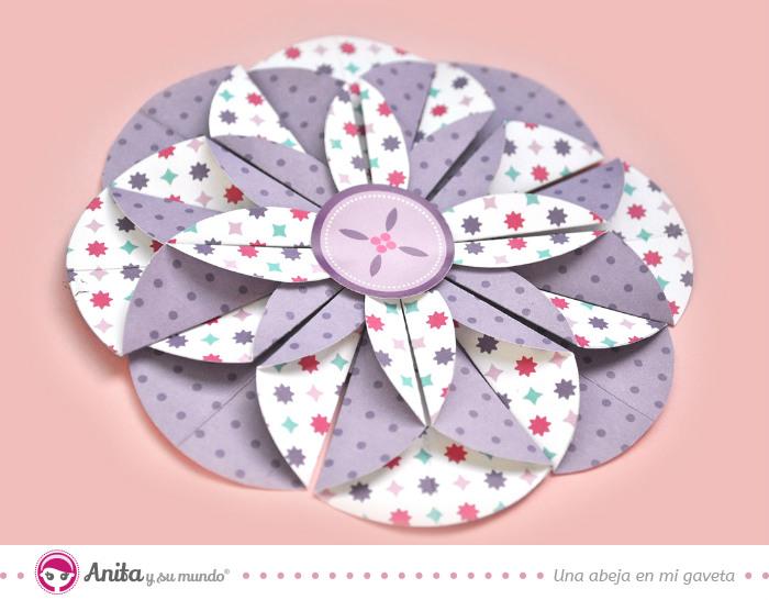 como-hacer-flor-con-circulos-de-papel