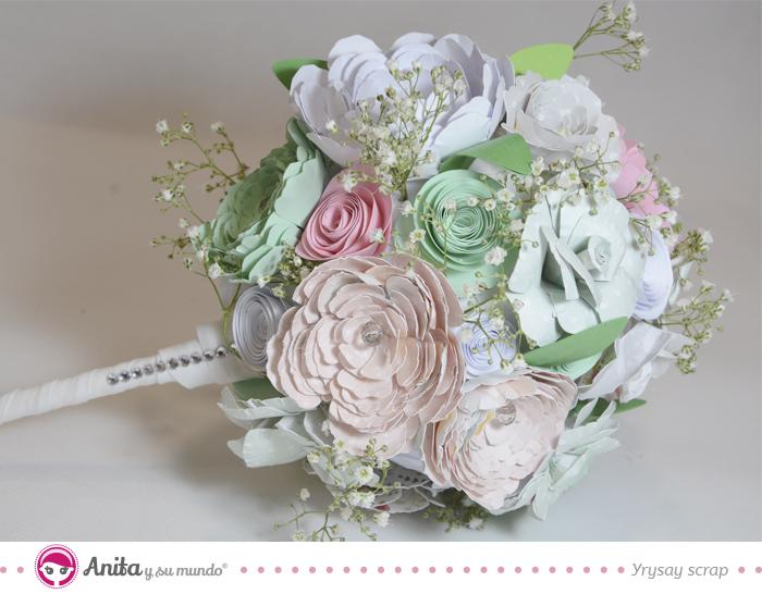 C mo hacer un ramo de flores de papel para novia paso a paso - Como secar un ramo de rosas ...