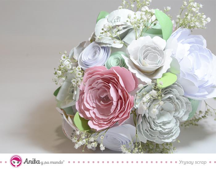 C mo hacer un ramo de flores de papel para novia paso a paso - Como hacer un ramo de flores artificiales ...