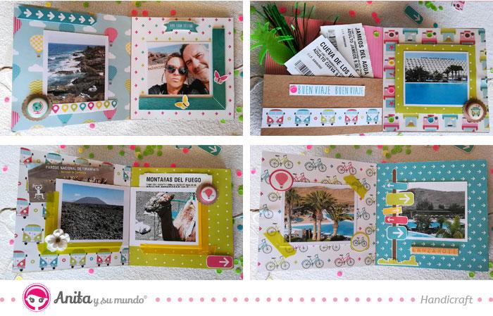 decoración de páginas interiores del mini álbum