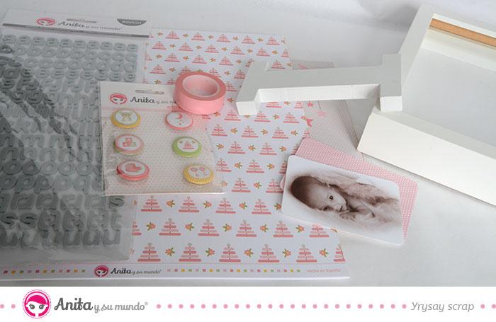 Materiales para hacer un cuadro de bebé