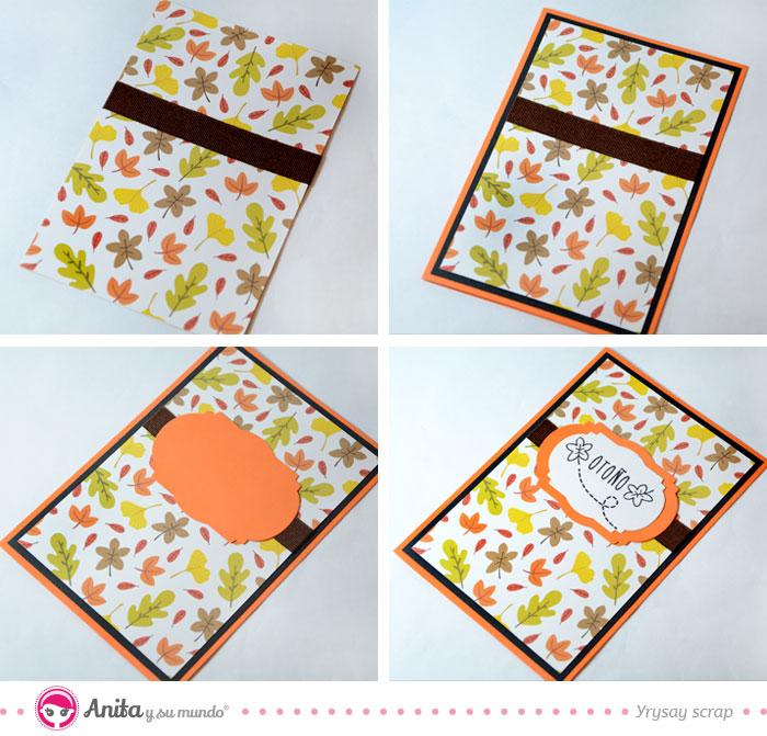 decorar con cinta tarjetas de papel