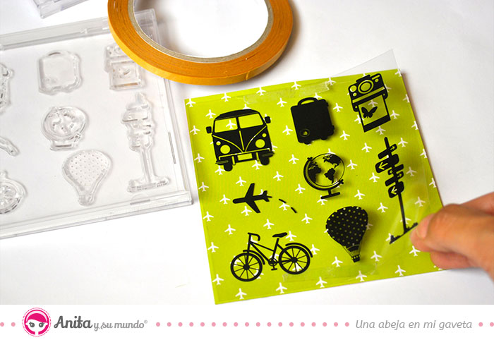 fijar acetato en papel scrap