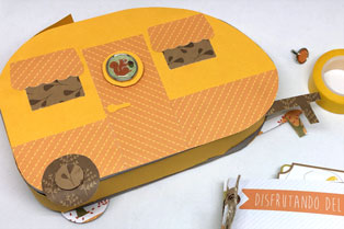 álbum scrap con funda caravana