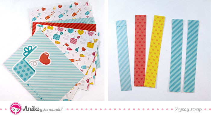 papel decorado scrapbooking