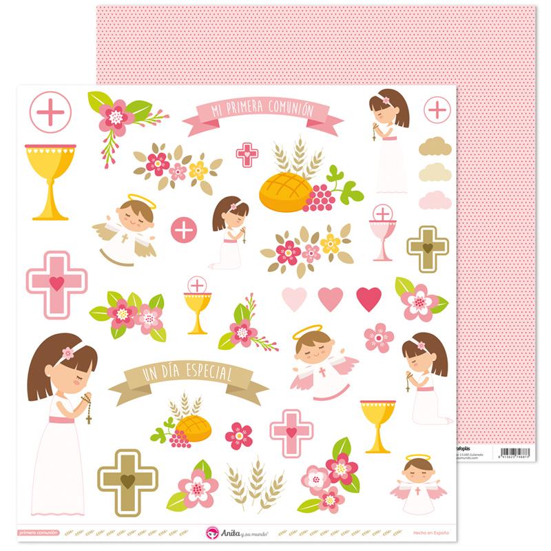 """Recortables """"primera comunion niña"""" – Ref. 37 01 09 41"""