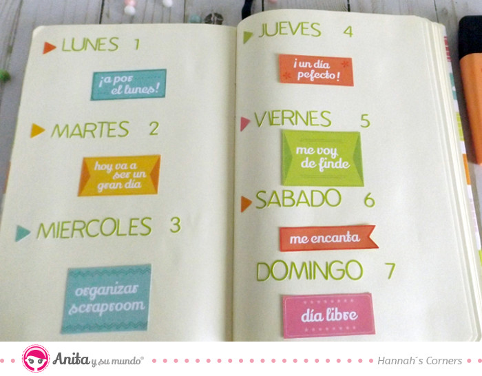 Planning semanal bullet journal