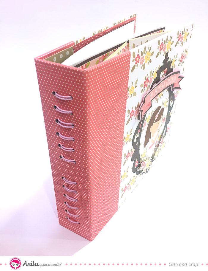 decoración lomo del álbum de firmas y libros de dedicatorias comunión