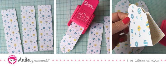 cómo hacer bolsa de chuches con troqueladora 3 tarjetas de anita