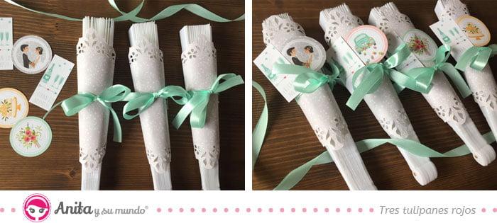hacer adornos para abanicos como regalo de boda