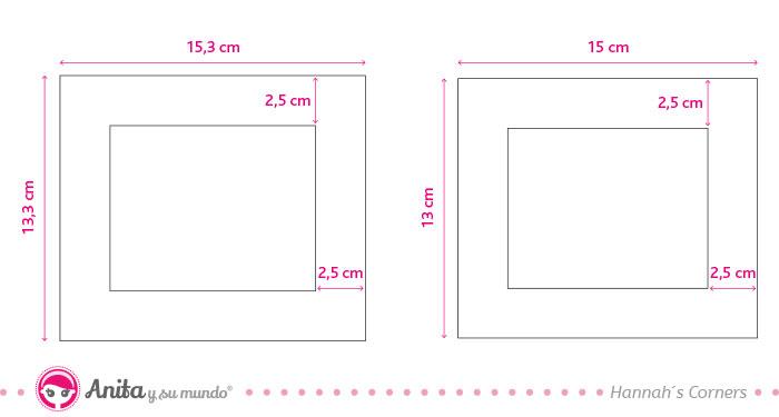 medidas para hacer caja exterior álbum cámara fotos