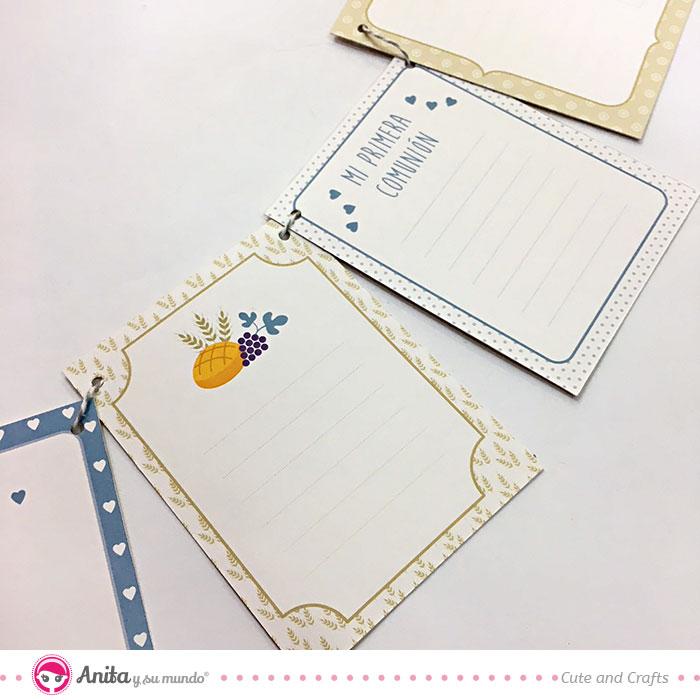 tarjetas papeles estampados de scrapbooking para guirnaldas