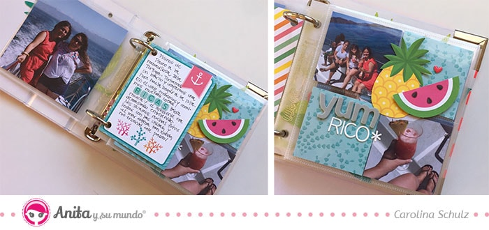mini álbum scrapbooking archivador