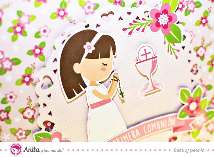 portada libro de firmas comunión niña