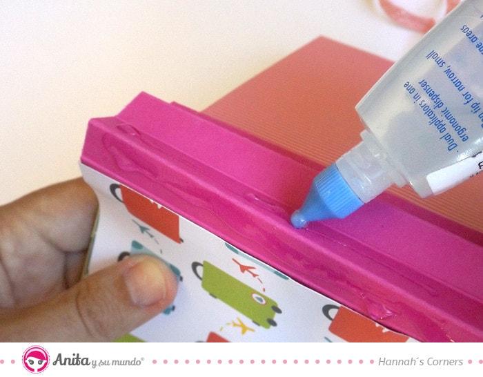 cómo pegar páginas encuadernación con fuelle