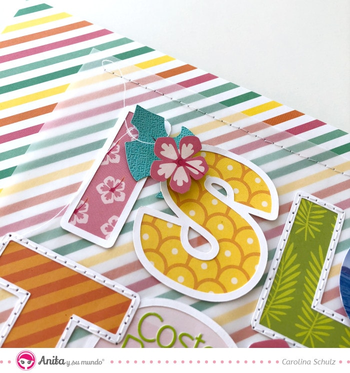 conjunto papel recortable para decorar layouts de scrapbooking
