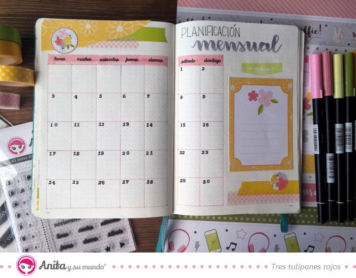 ejemplo de planificador mensual personalizado