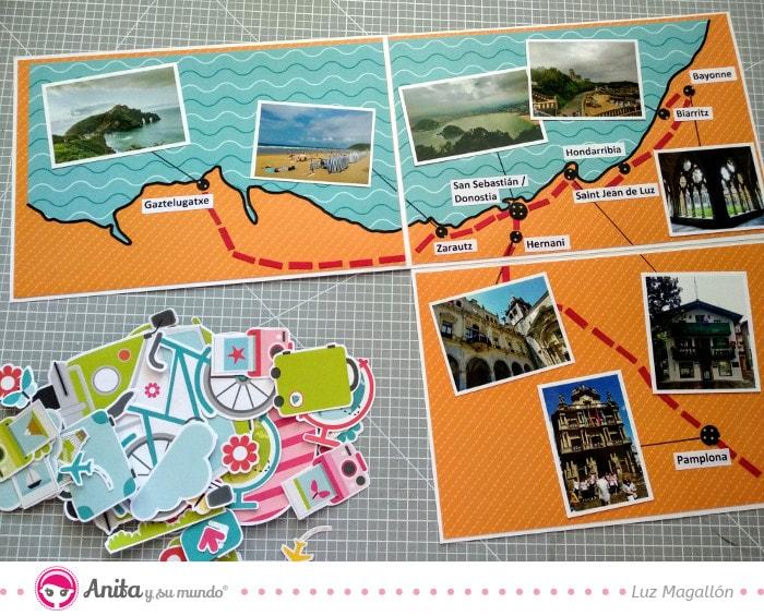 recortables aventura colección scrap para viajes
