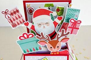 card in box navidad