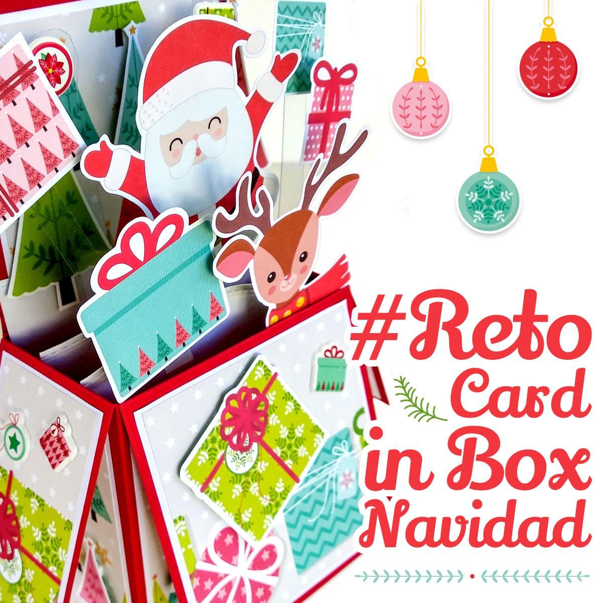 reto tarjetero card in box navidad