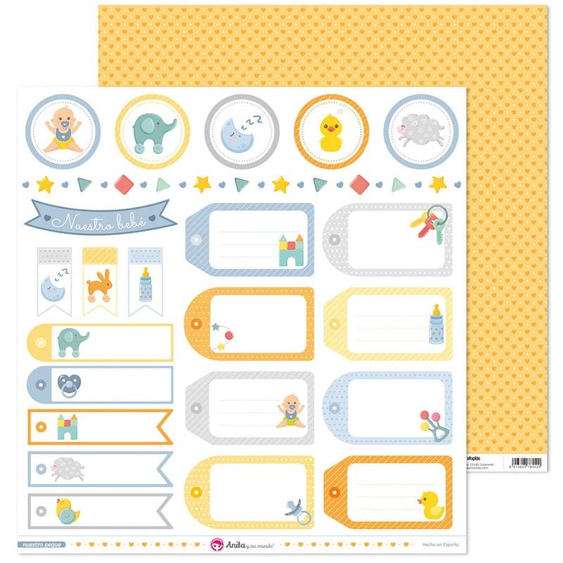 """Etiquetas colección """"Nuestro peque"""" - Ref. 37 01 12 45"""