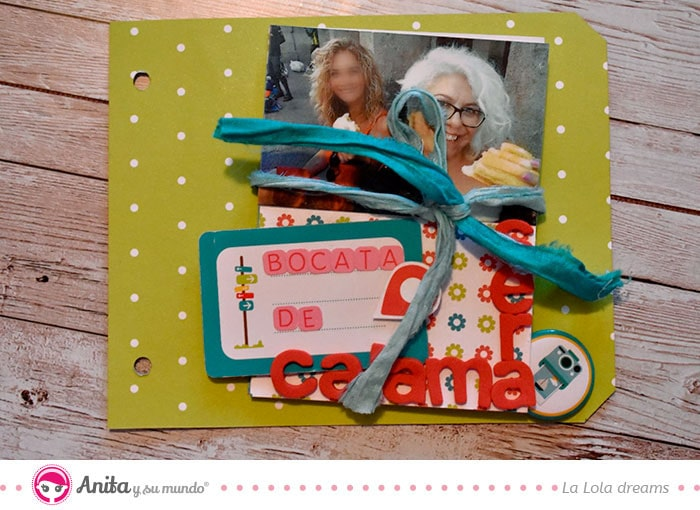 desplegable en muelle en scrapbooking