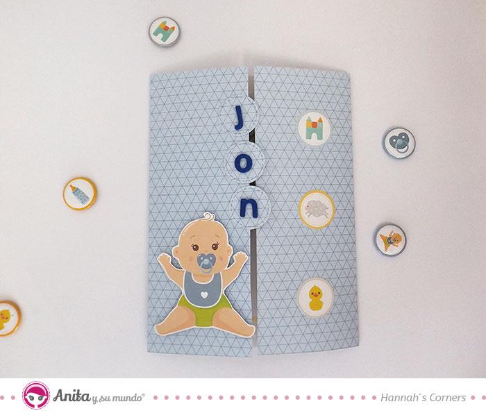 tarjeta para bebé con móvil de cuna