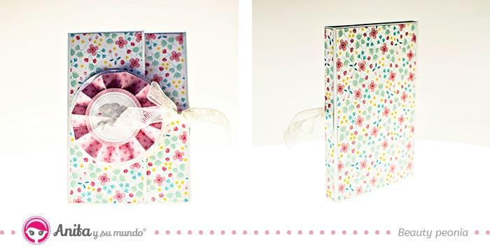cómo hacer un mini álbum de papel para baby showers