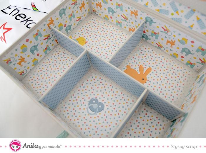 compartimentos de carton para cajas de regalos
