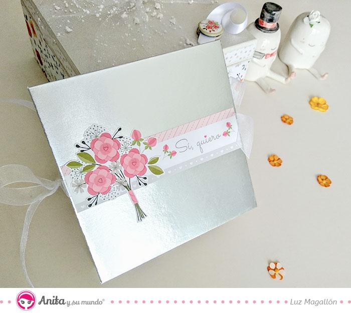 contraportada album de promesas para bodas