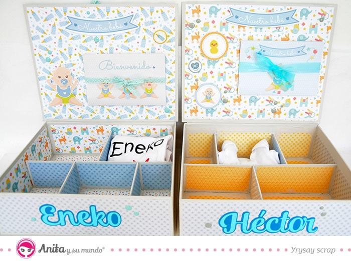 dos modelos de cajas de carton para bebes