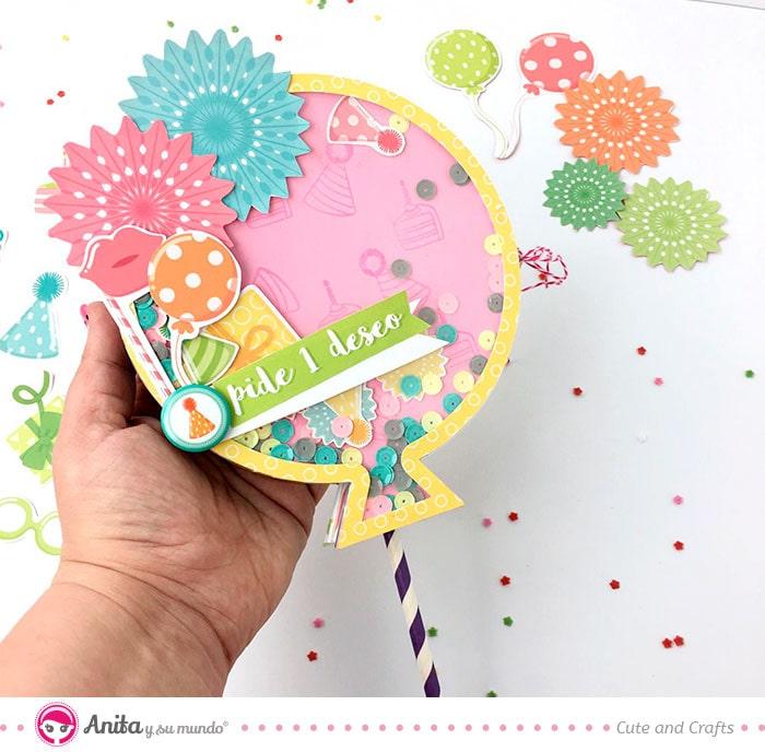 album para cumpleaños con forma de globo