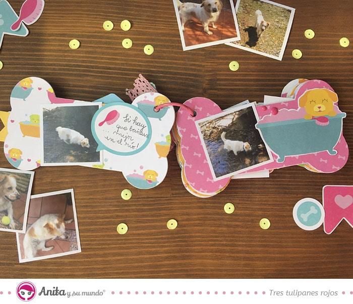 interior album scrapbooking mascotas