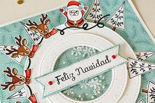 tutorial tarjeta giratoria en navidad