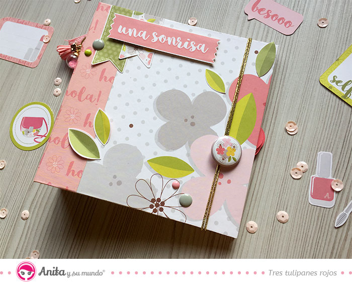 como decorar album scrapbooking primavera