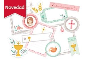 colección de papeles decorados primera comunión